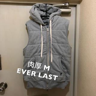 エバーラスト(EVERLAST)の肉厚M!EVER LAST エバーラスト 古着ノースリーブ ジップアップスウェッ(パーカー)