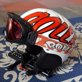 ボレー(bolle)のゴーグルおまけつき!ボレーBOLLEヘルメットセットスキーアルペンボードジュニア(ウエア/装備)