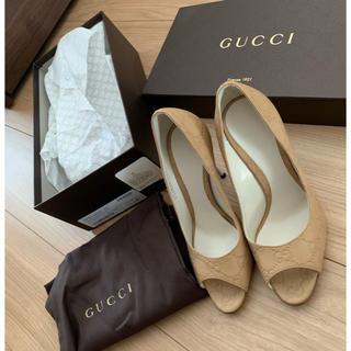 グッチ(Gucci)のGUCCI♡パンプス ベージュ♡ 35(ハイヒール/パンプス)