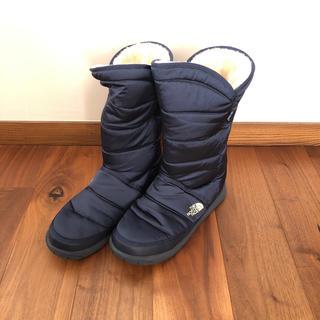 ザノースフェイス(THE NORTH FACE)のノースフェイス ボア付きブーツ ブーツ 26 ネイビー(ブーツ)