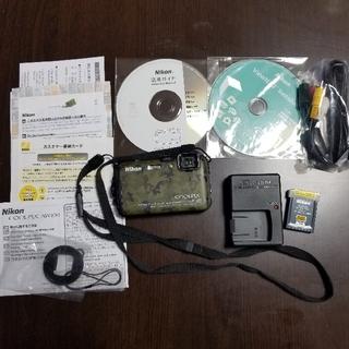 Nikon - デジカメ Nikon 🌸 AW100 迷彩柄 説明書と箱なし