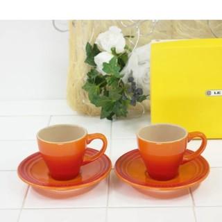 ルクルーゼ(LE CREUSET)の専用【新品未使用】ルクルーゼ エスプレッソ カップアンドソーサー オレンジ(食器)