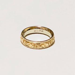 K14×プラチナ ハワイアンジュエリー(リング(指輪))