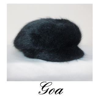 goa - goa アンゴラニット帽 キャップ ベレー帽♥️SALE♥️