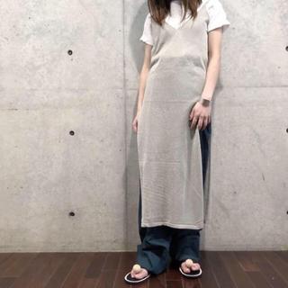 新品 TAN(タン) LUSTER DRESS ワンピース ニットワンピース (ロングワンピース/マキシワンピース)