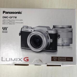 パナソニック(Panasonic)のLUMIX gf7 ダブルズームレンズキッド ブラウン(ミラーレス一眼)