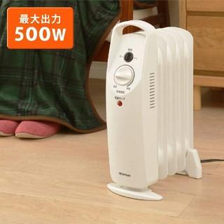 アイリスオーヤマ(アイリスオーヤマ)のアイリスオーヤマ ミニオイルヒーター POH-505K-W(オイルヒーター)