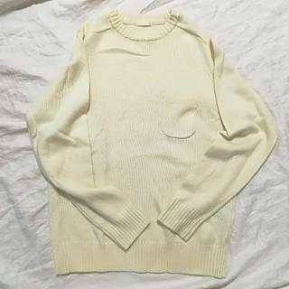ジーユー(GU)のラムブレンドクルーネックセーター(ニット/セーター)