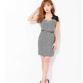 デイジーストア(dazzy store)のdazzy レース袖 ツイードタイトドレス 美品(ミニドレス)