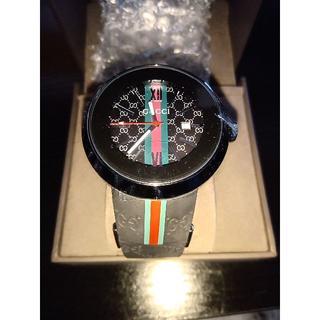 グッチ(Gucci)のGucci メンズ ファッション GG柄ラバーベルト 電子式 腕時計(ラバーベルト)