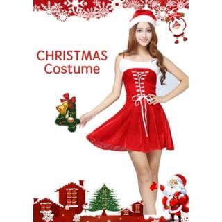 【クリスマス】サンタクロース ミニドレス ワンピ コスプレ コスチューム 衣装(衣装)