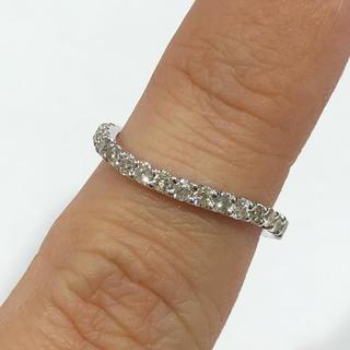 K18WG ダイヤモンド ハーフエタニティ リング(リング(指輪))