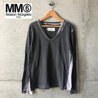 エムエムシックス(MM6)の【Maison Margiela/MM⑥】手刷りデザイン 長袖カットソー F(Tシャツ(長袖/七分))
