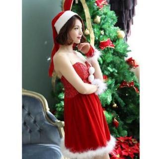 【クリスマス】サンタクロース ミニドレス ワンピース コスプレ コスチューム(衣装)