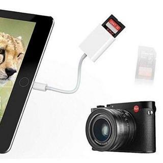 Lightning SDカードカメラリーダー 写真とビデオ転送 ホワイト(その他)