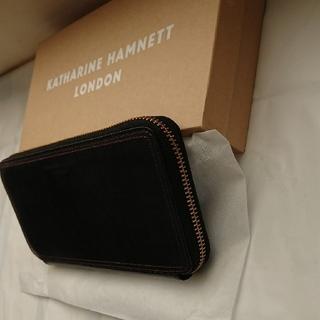 キャサリンハムネット(KATHARINE HAMNETT)のキャサリン・ハムネット・ロンドン 新品 ラウンドジップ長財布(長財布)