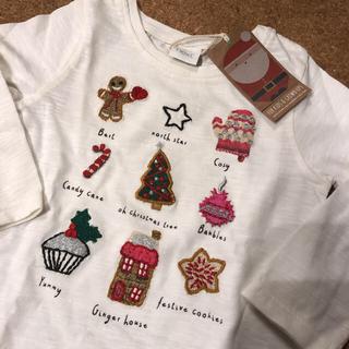 ネクスト(NEXT)の新品未使用 next ロンT 刺繍 クリスマス 12-18m(Tシャツ)