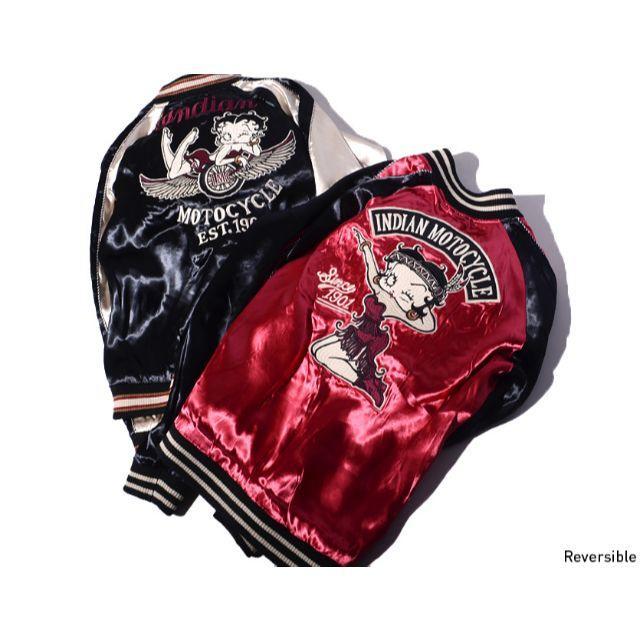 Indian(インディアン)のベティブープ × インディアンモトサイクル リバーシブル ジャケット L メンズのジャケット/アウター(スカジャン)の商品写真