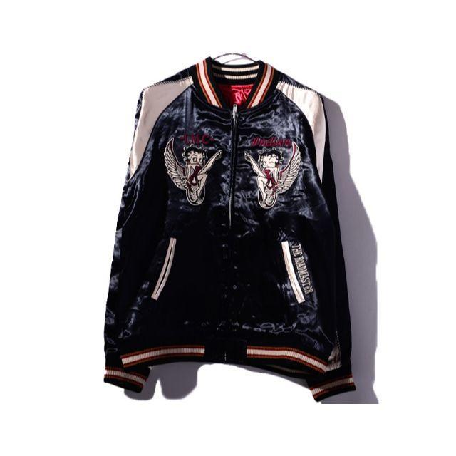 Indian(インディアン)のベティブープ × インディアンモトサイクル リバーシブル ジャケット XL メンズのジャケット/アウター(スカジャン)の商品写真