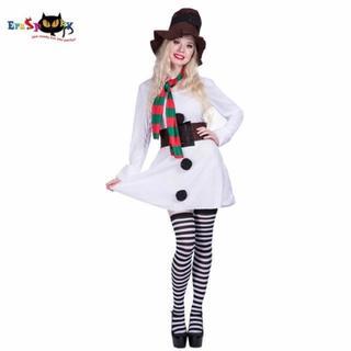 【クリスマス】雪だるま スノーマン ドレス ワンピ コスプレ コスチューム 衣装(衣装)