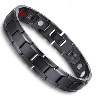 ⭐️新品⭐️ ゲルマニウム ブレスレット メンズ 純チタン製 磁気ブレスレット(ブレスレット)
