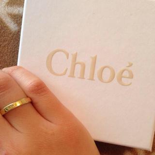 クロエ(Chloe)のchloe HOLLYロゴラインリング(リング(指輪))