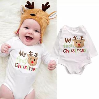 クリスマス サンタ ロンパース 90 赤ちゃん トナカイ