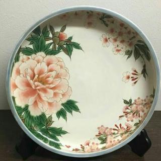 陶あん 飾り皿 絵皿 桜 牡丹(食器)