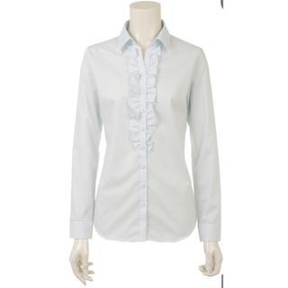 アオヤマ(青山)の洋服の青山 n-line  長袖 フリルスキッパーカラーブラウス (シャツ/ブラウス(長袖/七分))