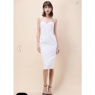 シックウィッシュ(Chicwish)のchicwish♡ホワイトドレス(ひざ丈ワンピース)