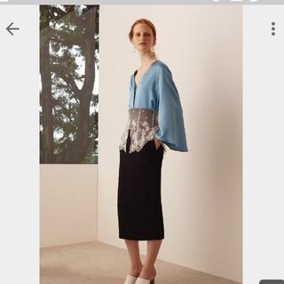 マメ(mame)のmame タイトレーススカート(ひざ丈スカート)