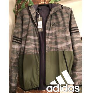 アディダス(adidas)の新品 adidas ラスト1点!裏起毛 ナイロンジャケット(ナイロンジャケット)