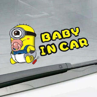 日本未販売★ミニオン ベビーインカー BABY IN CAR 防水カーステッカー