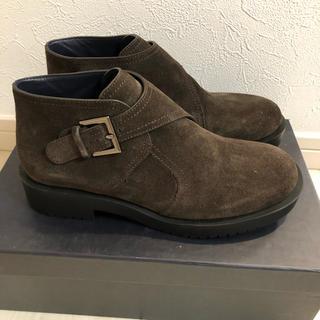 ジルサンダー(Jil Sander)のジルサンダー   NAVY 新品 ショートブーツ スウェード 35(ブーツ)