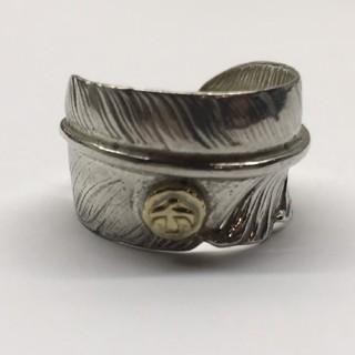 ゴローズ(goro's)のゴローズ  金メタル付フェザーリング  21号(リング(指輪))