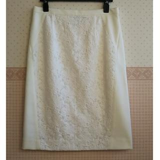 アンタイトル(UNTITLED)のアンタイトル UNTITLED  フロントレースポンチタイトスカート(ひざ丈スカート)