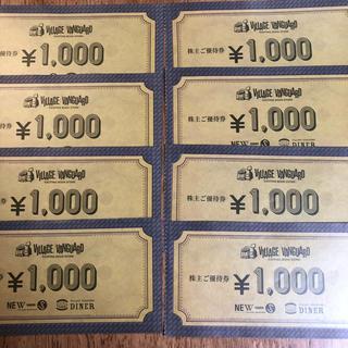 ヴィレッジヴァンガード株主優待券(ショッピング)