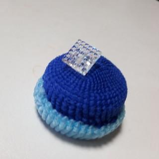 ハムスター用帽子キラキラ青(おもちゃ/ペット小物)