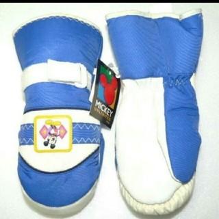ミッキーマウス■子供用■丸手袋■青ブルー■SSS(13cm)3~4歳■超軽量■(手袋)