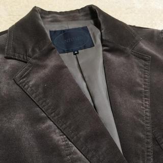 アンタイトル(UNTITLED)のアンタイトル テーラードジャケット モカ茶 M  ベロア 別珍(テーラードジャケット)