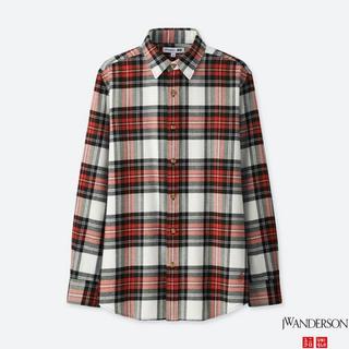 ユニクロ(UNIQLO)のユニクロ 新品 JWアンダーソン フランネルチェックシャツ レッドXL(シャツ)