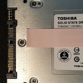 トウシバ(東芝)の東芝 TOSHIBA 128GB SSD 中古(PCパーツ)