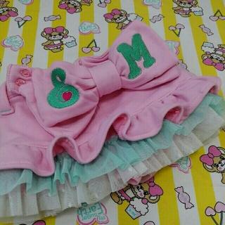 アースマジック(EARTHMAGIC)のアースマジック♡リボンカットデニムスカパンツ♡サイズ100(スカート)