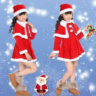 キッズサンタ サンタコス クリスマス コスプレ ★女の子/110cm★ z451(衣装一式)