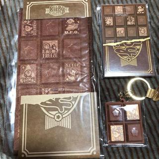ニンテンドウ(任天堂)の星の カービィ ハンカチ キーホルダー メモ帳 板チョコ チョコレート チョコ(キャラクターグッズ)