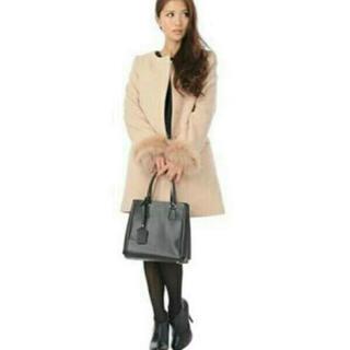 ジーユー(GU)のAMBIENT激似◆GU◆ノーカラーウールコート新品未使用(ロングコート)