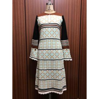 マメ(mame)のmame  Eyelet Jacquard Long Knit Dress(ロングワンピース/マキシワンピース)