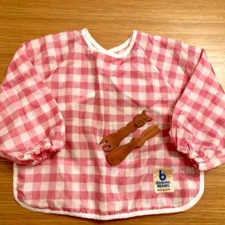 コドモビームス(こどもビームス)のこどもビームス 食事エプロン スプーンフォークセット(お食事エプロン)