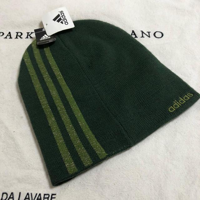 adidas(アディダス)のアディダス ニット帽 モスグリーン レディースの帽子(ニット帽/ビーニー)の商品写真