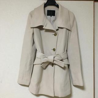 アンタイトル(UNTITLED)のUNTITLED  素敵なウール素材のリボンベルト付きコート  2  日本製(ピーコート)